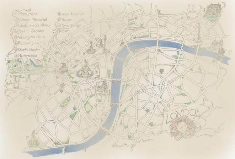 London Karte Peter Scott